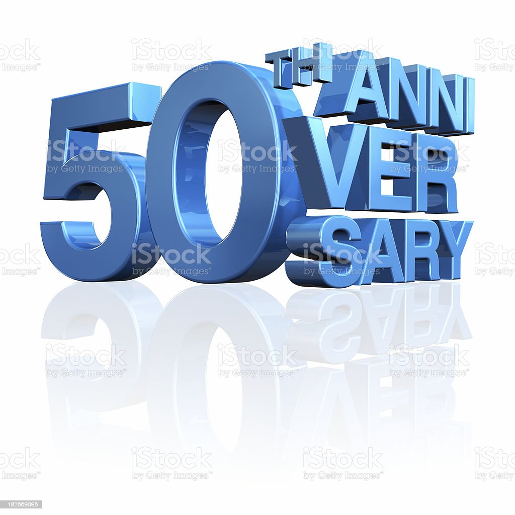 Anniversary 50th royalty-free stock photo