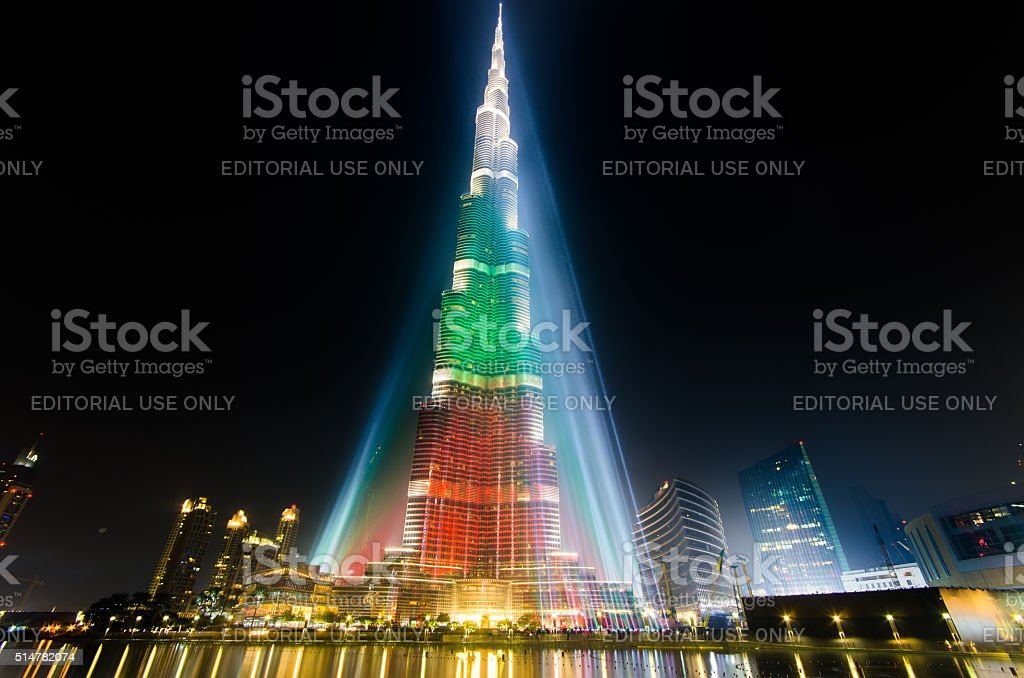 42 anniversary celebration in dubai stock photo