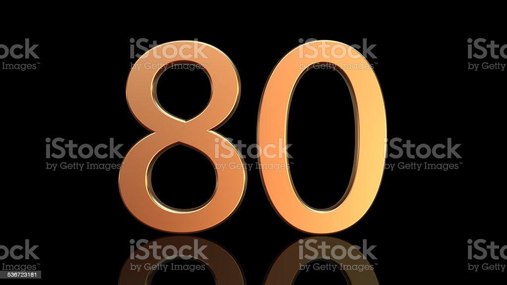 80 Anniversary, number eighty stock photo
