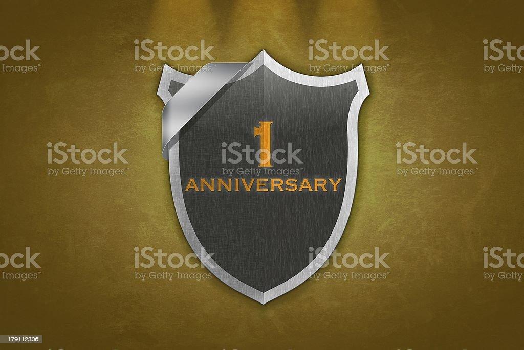 1 Anniversary. stock photo