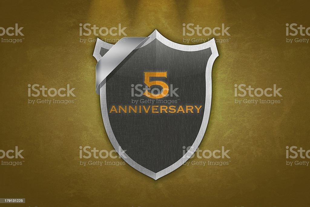 5 Anniversary. stock photo