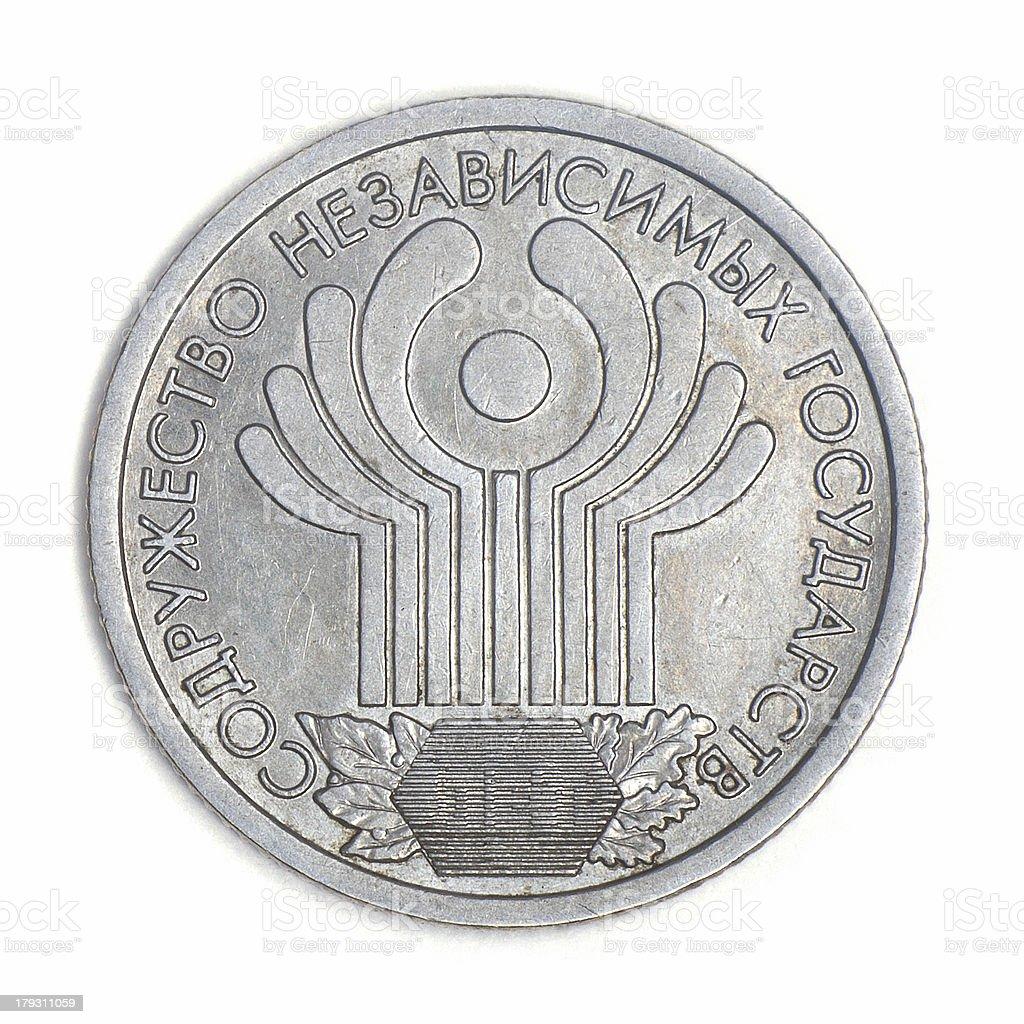 Aniversário rouble. União de Estados independentes. foto royalty-free