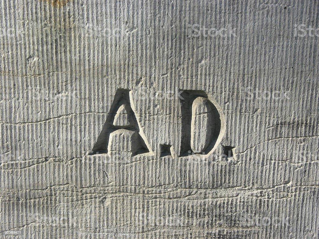 Anno domini royalty-free stock photo