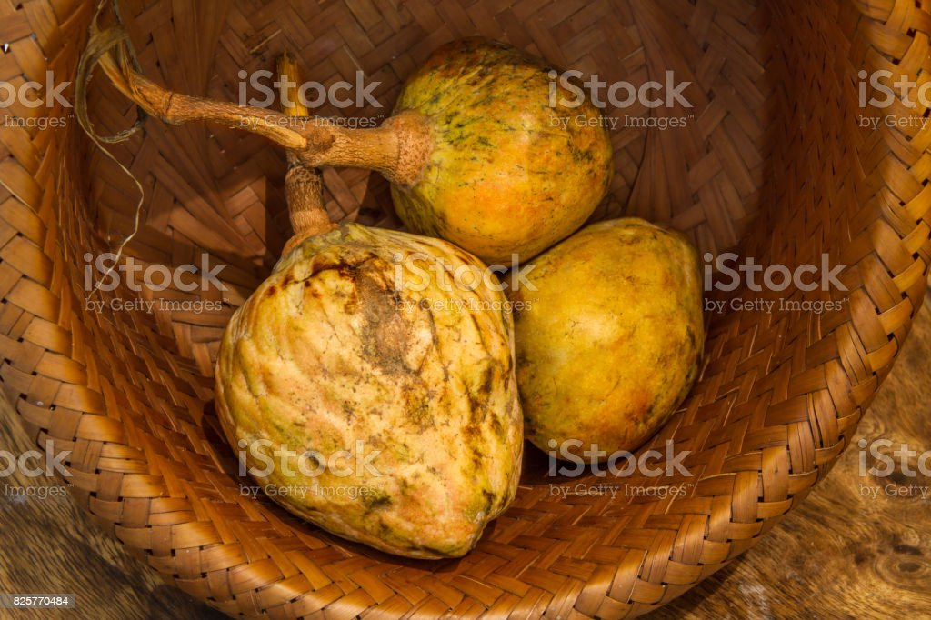 Annona scaly, sugar apple fruit. stock photo
