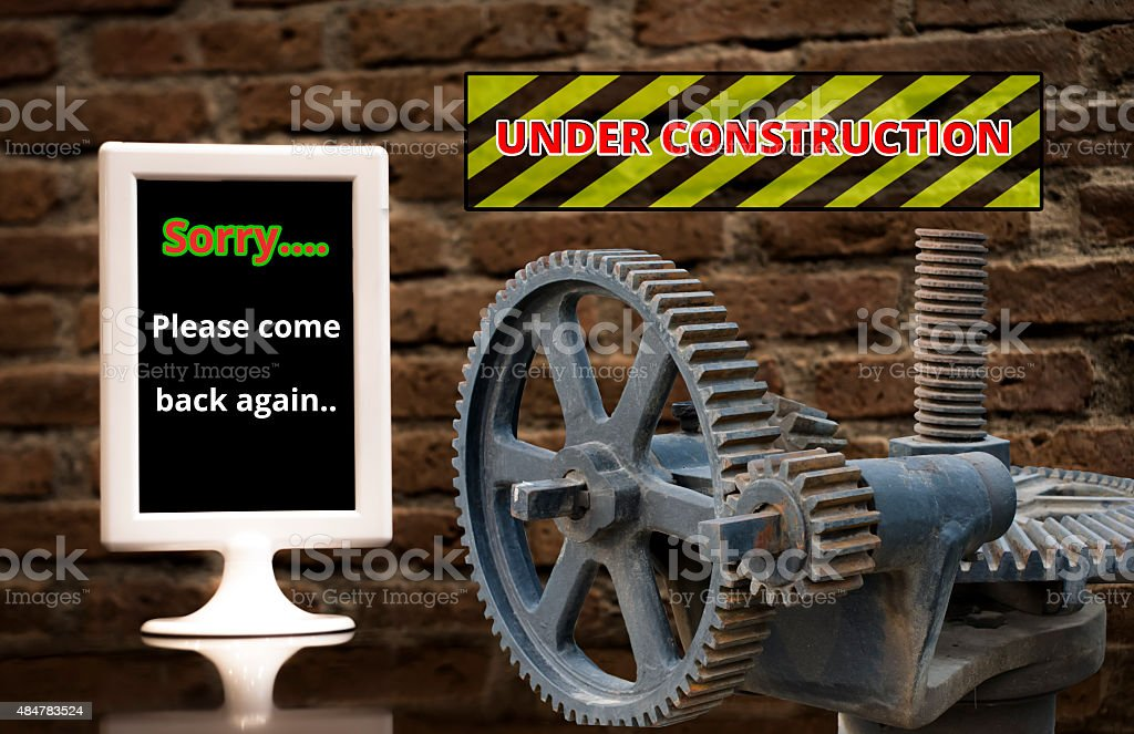 Announce with the word 'UNDER CONSTRUCTION'. royalty-free stock photo