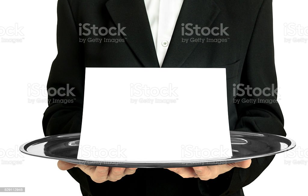 Announcement blank card stock photo