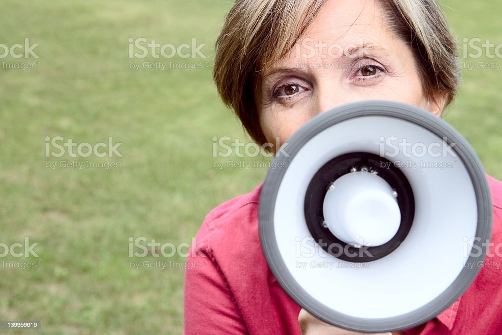 Announcement royalty-free stock photo