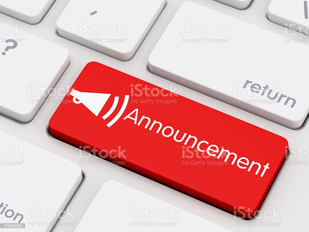 Announcement stock photo