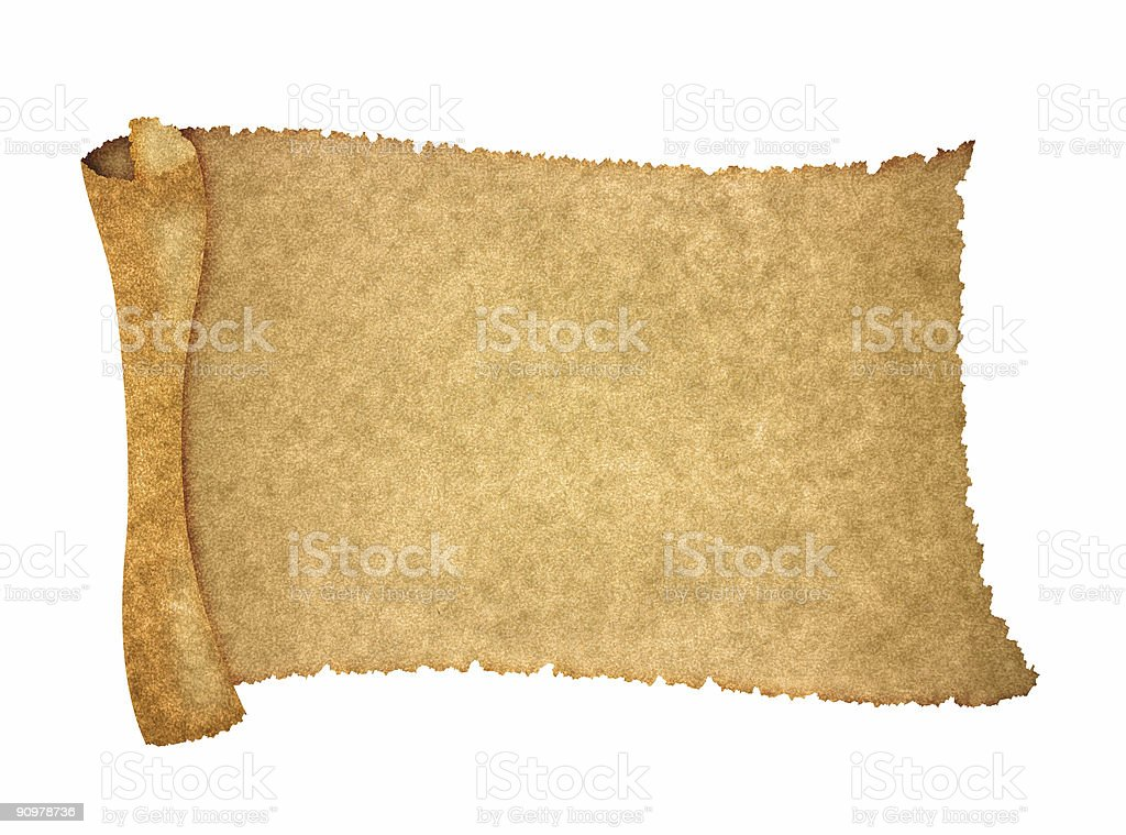 announcement scroll royalty-free stock photo