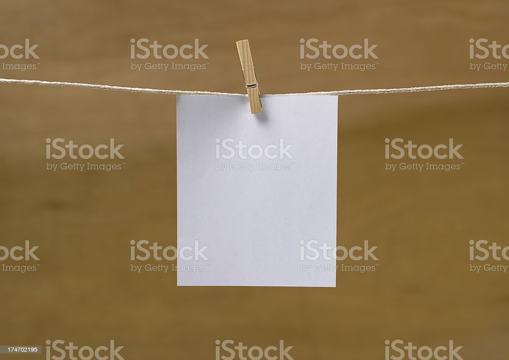 Announcements / Blank Note royalty-free stock photo