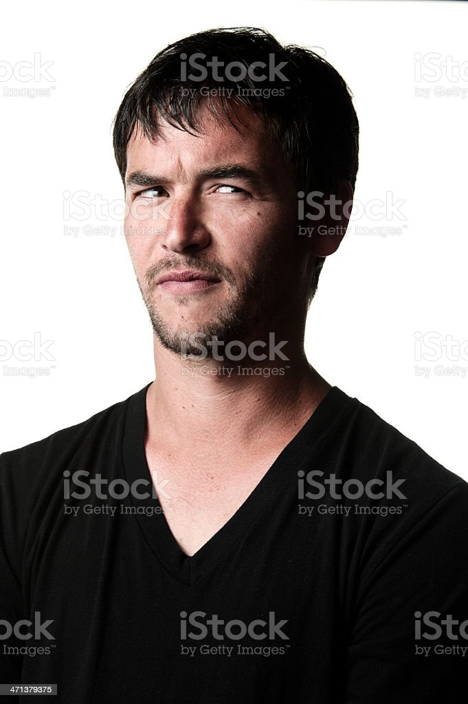 Annoyance, Anger, Disbelief and Frustration royalty-free stock photo