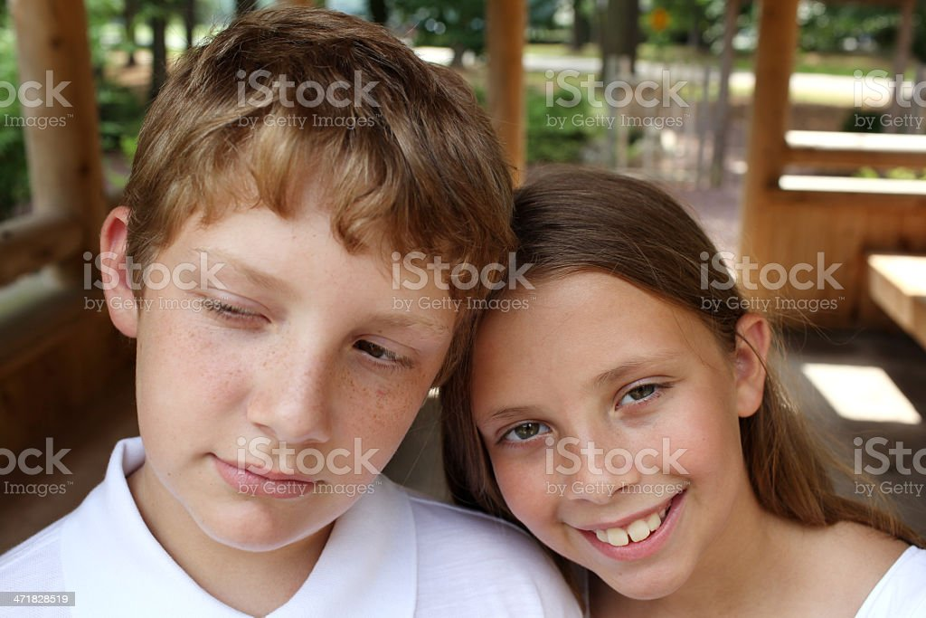 Annoyed Brother royalty-free stock photo