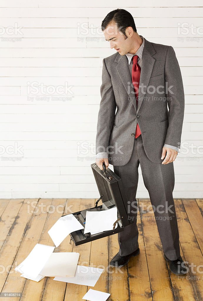 Annoyed Business Man royalty-free stock photo