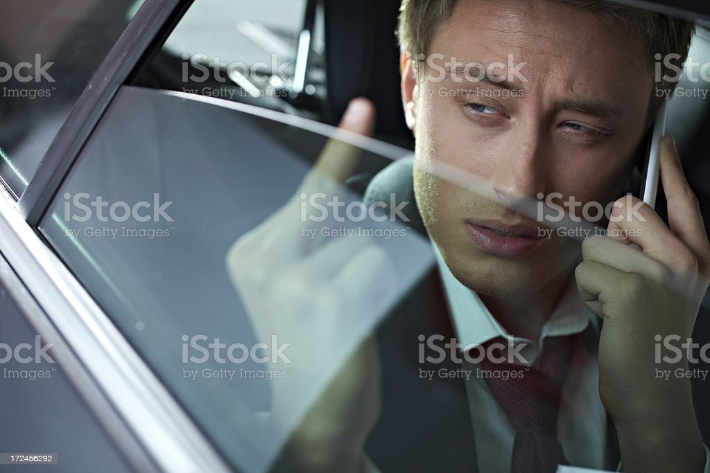 Annoyed businessman royalty-free stock photo