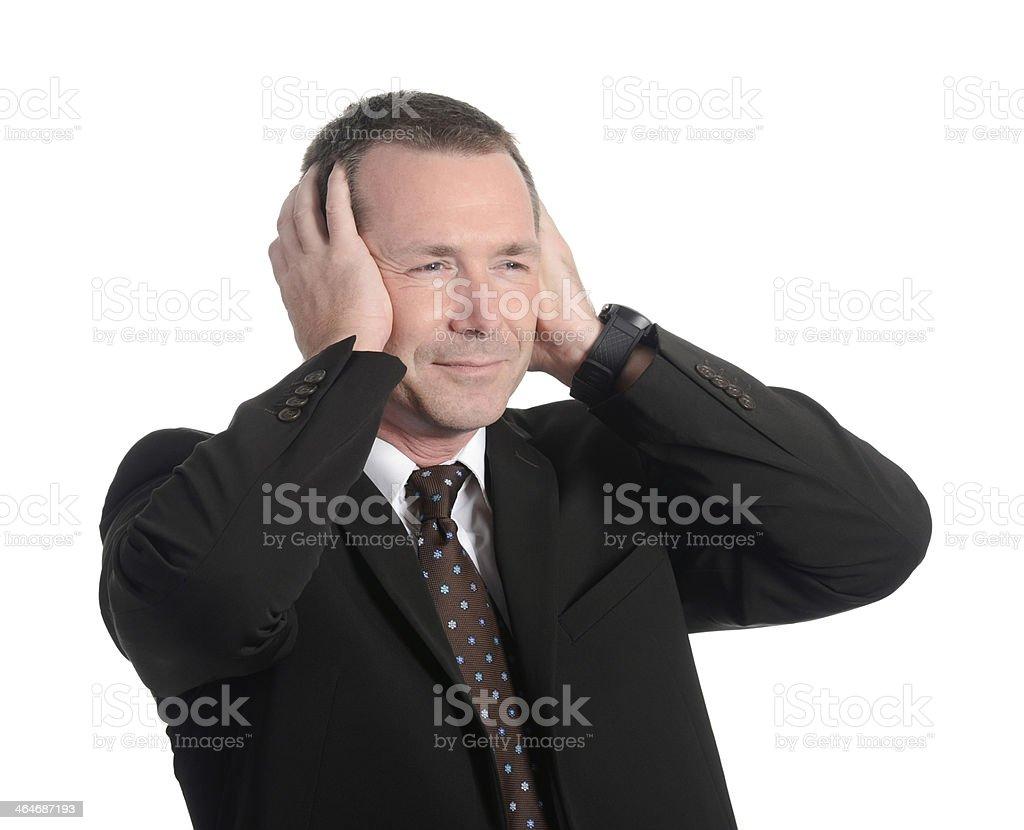 annoyed businessman stock photo
