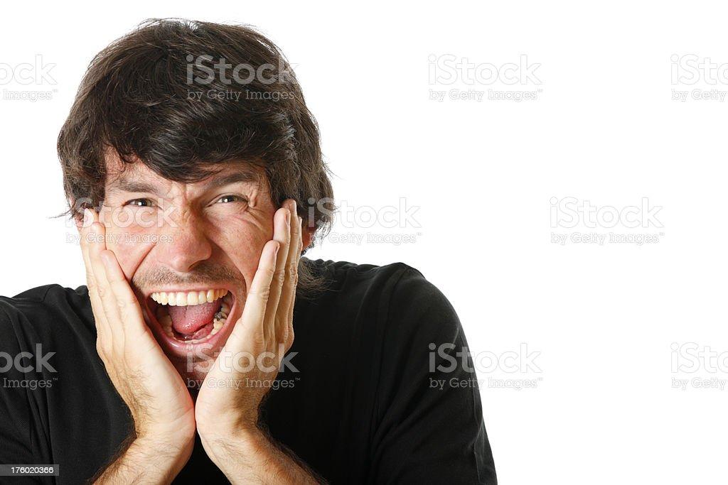 Annoyed man screaming royalty-free stock photo