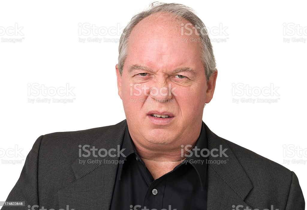 Annoyed Mature Man royalty-free stock photo