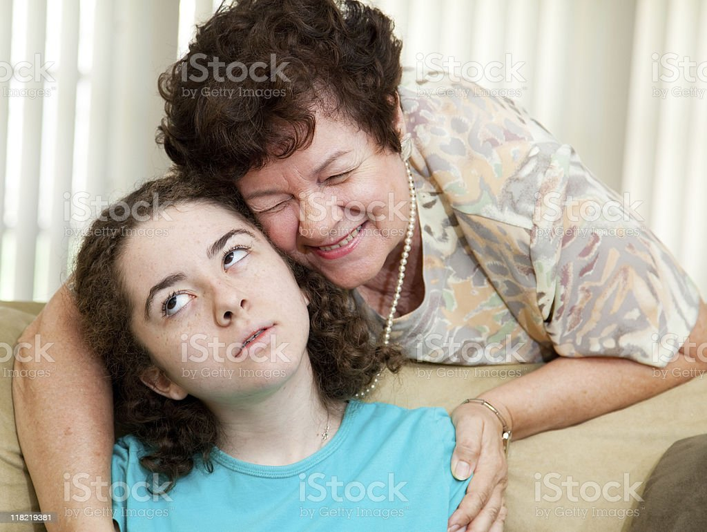 Annoying Aunt Betty stock photo