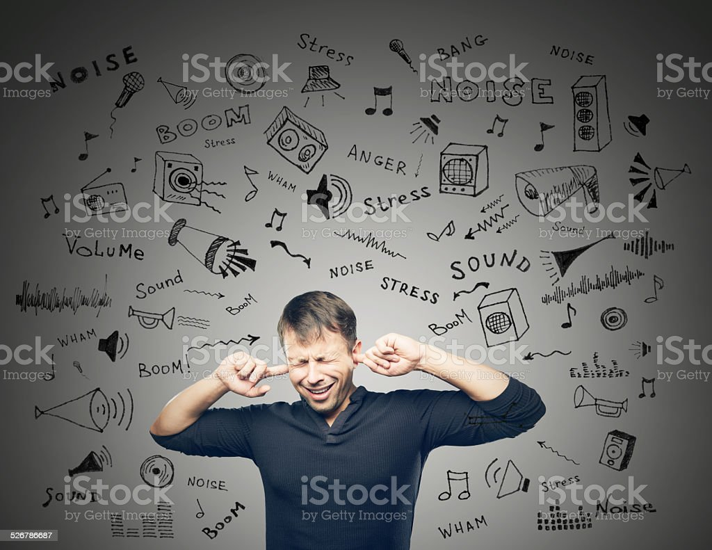 Annoying Noise stock photo