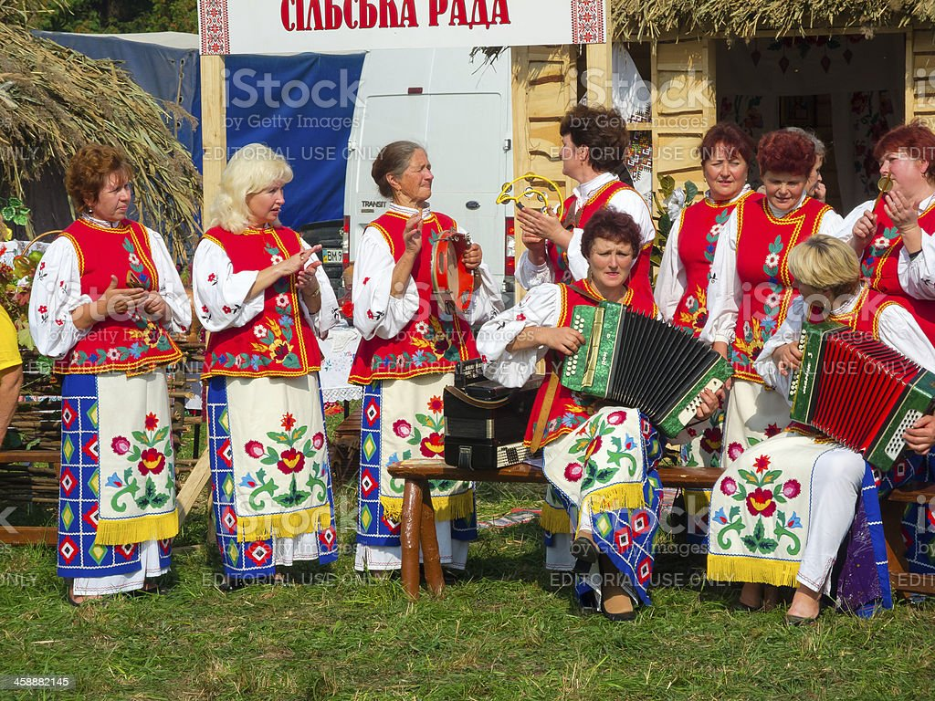 Annual agro exhibition SUMY-2012 stock photo