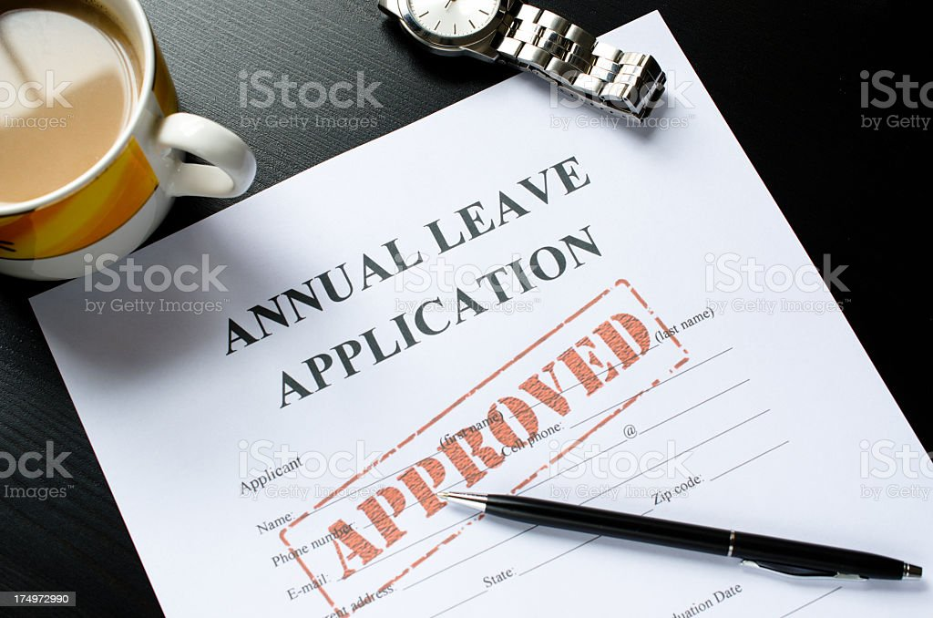 annual leave application - approved royalty-free stock photo