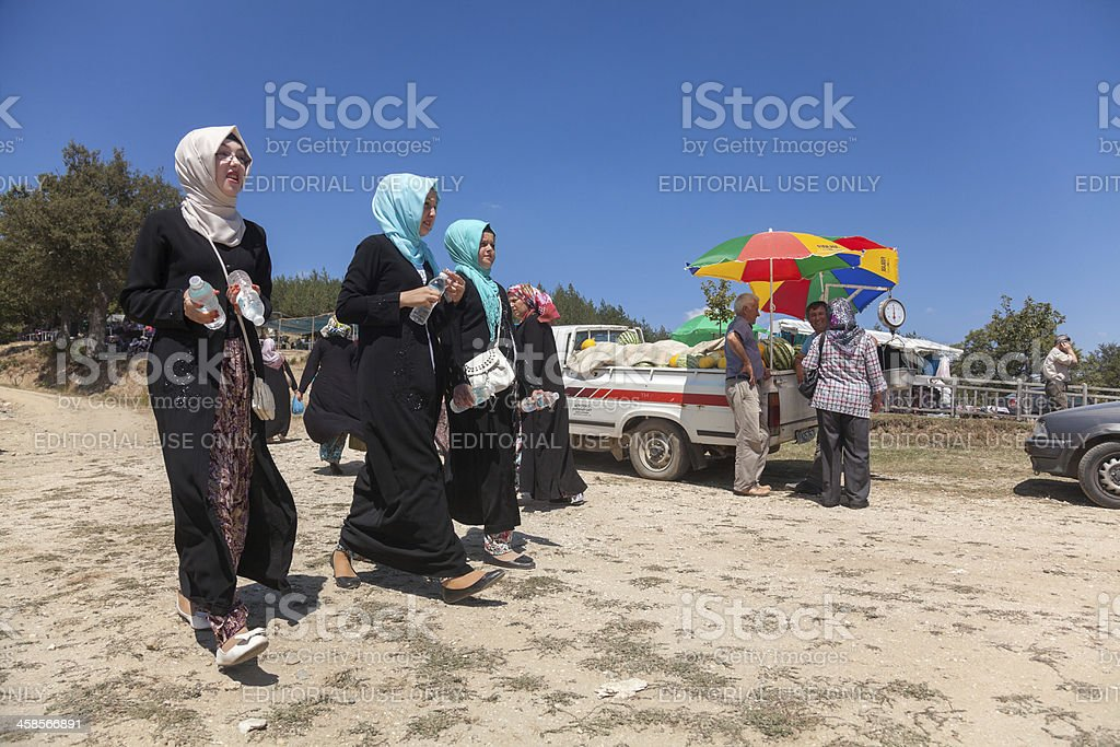 Annual meeting of Pomaks in Greece stock photo
