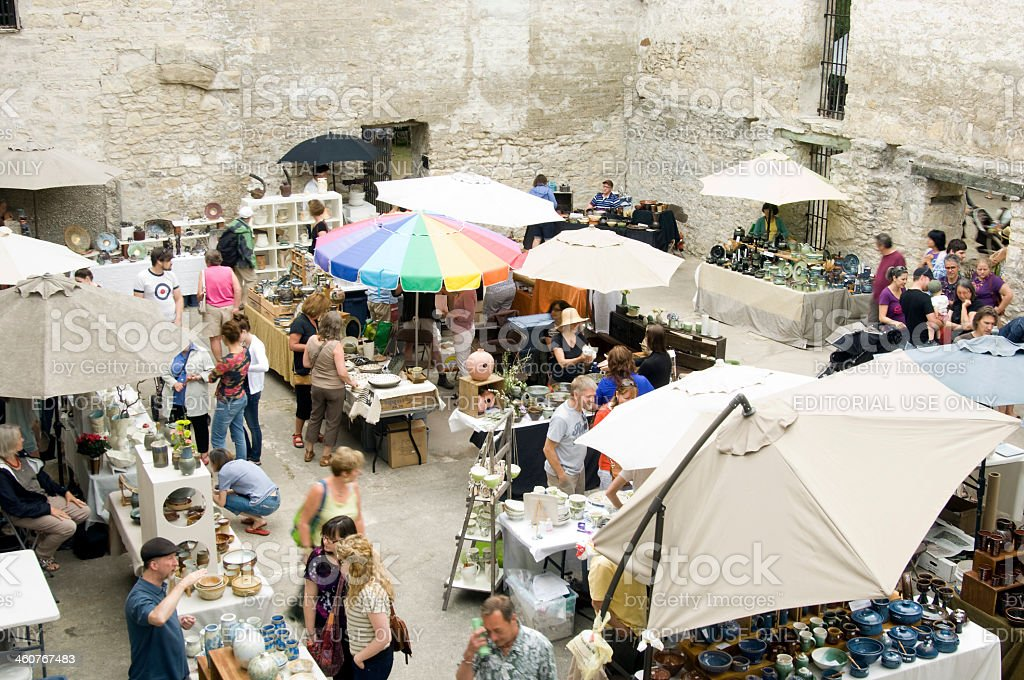 Annual Outdoor Potters Market in Guelph Ontario stock photo