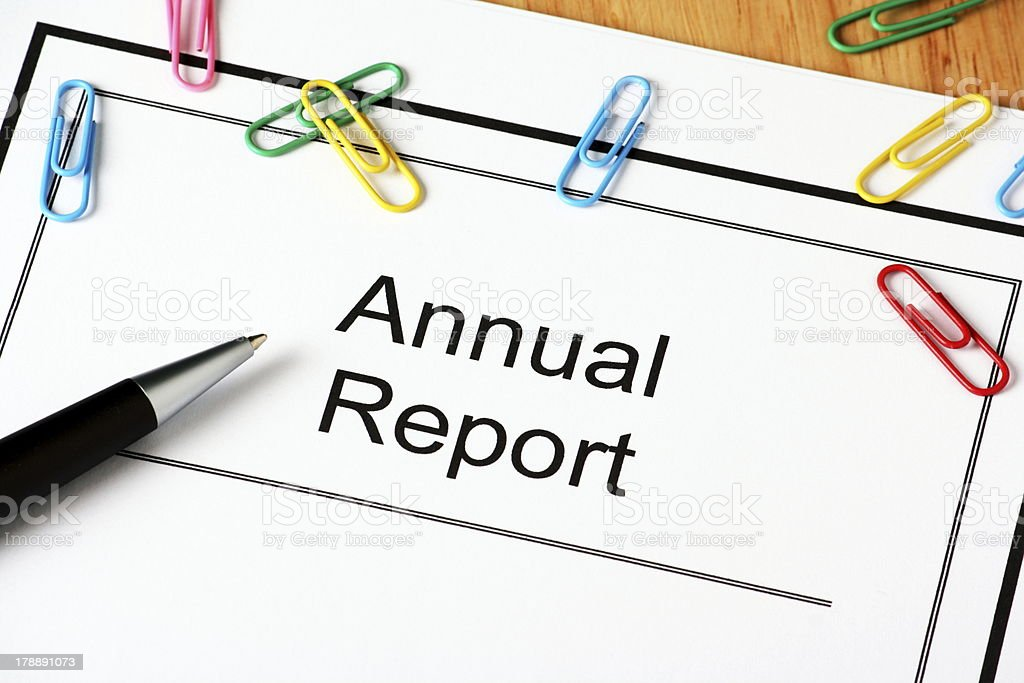 Annual Report Document royalty-free stock photo