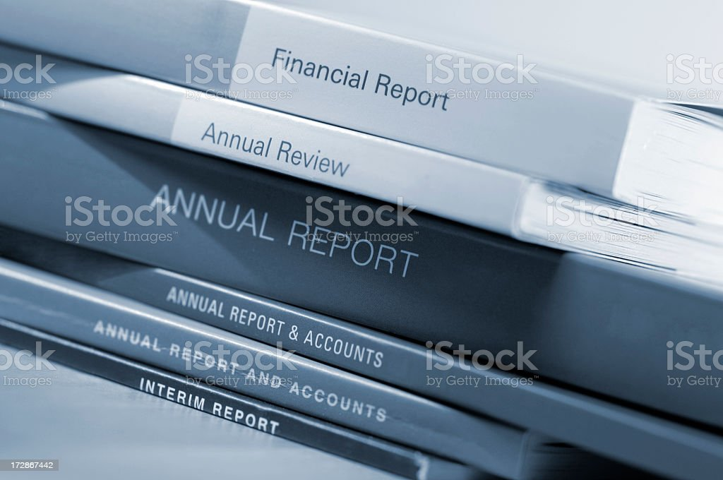 Annual Reports stock photo