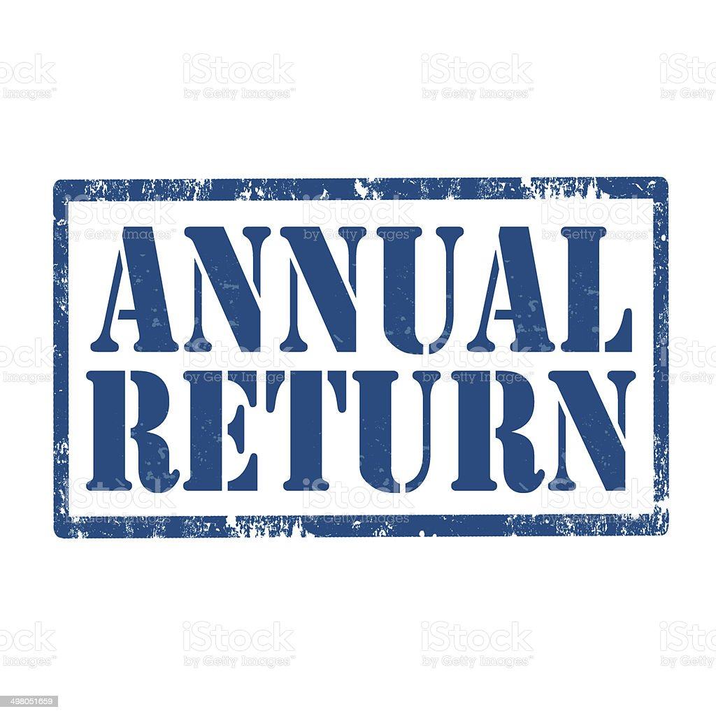 Annual Return-stamp stock photo