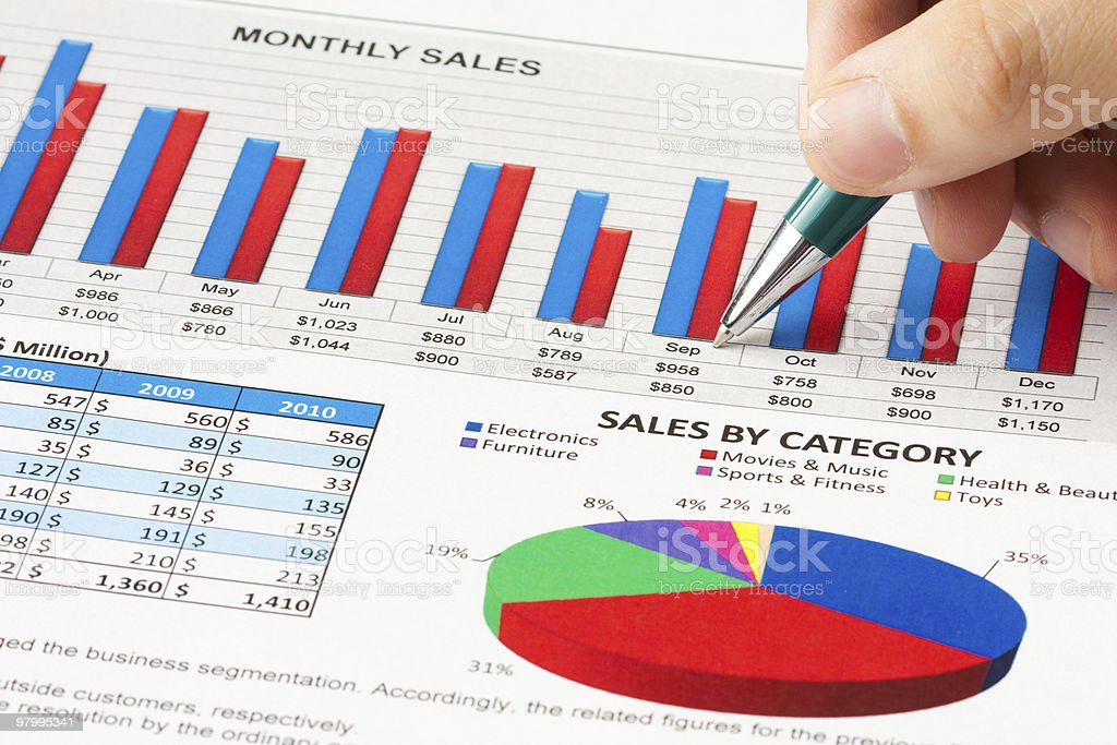 Annual sales report royalty-free stock photo