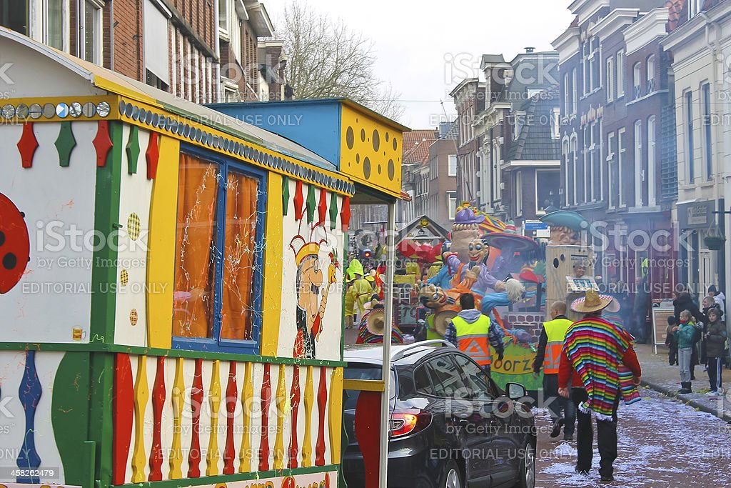Annual Winter Carnival in Gorinchem. February 9, 2013, royalty-free stock photo