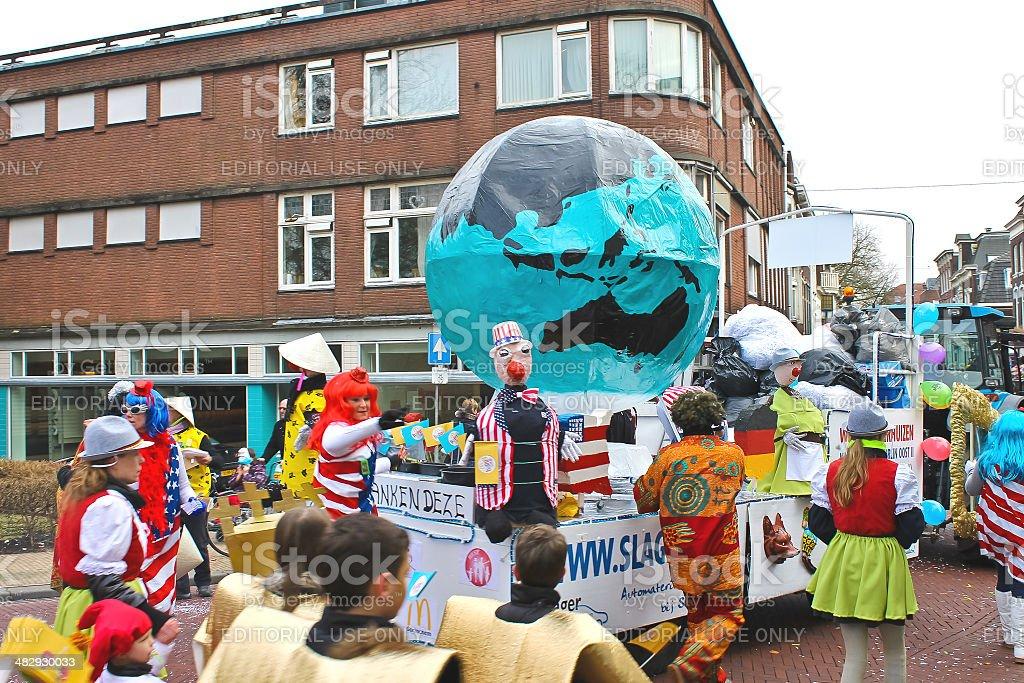 Annual Winter Carnival in Gorinchem. stock photo