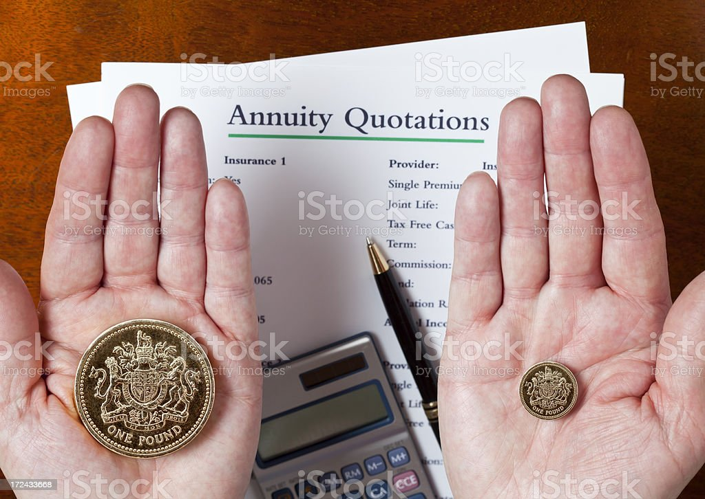 UK Annuity Quotations stock photo