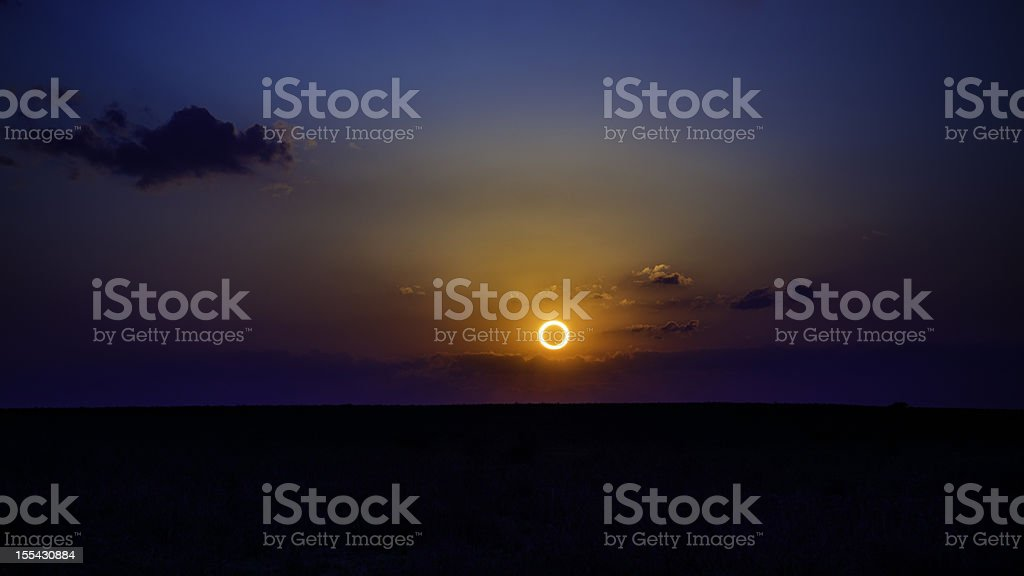 Annular Eclipse over New Mexico, May 20, 2012 stock photo