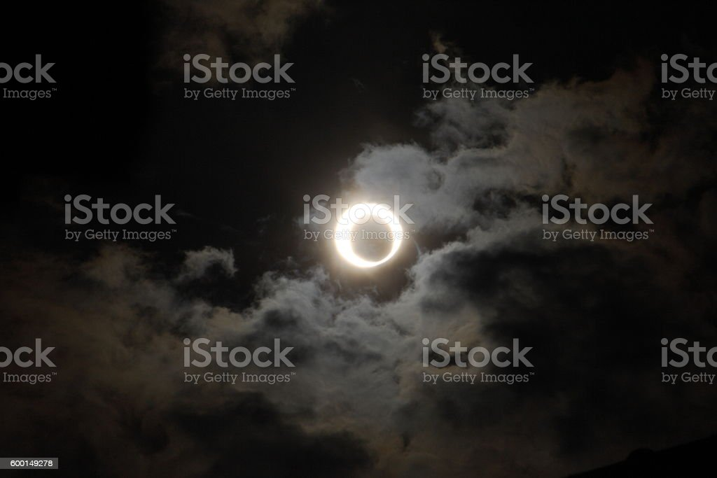 Annular eclipse Part 2 stock photo