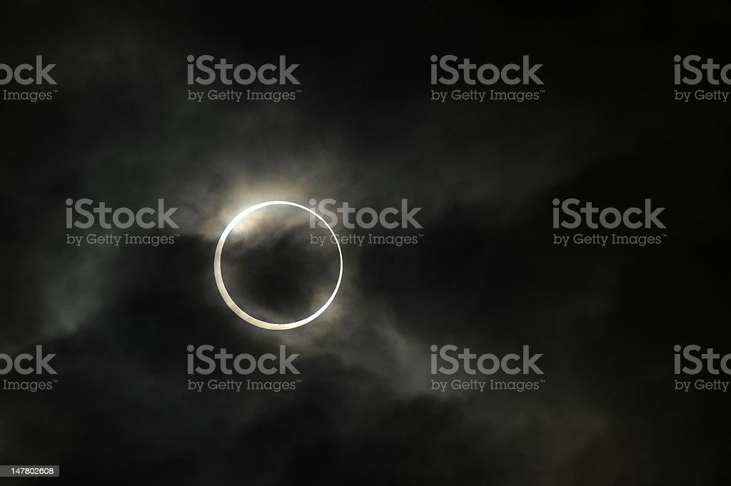 Annular solar eclipse stock photo