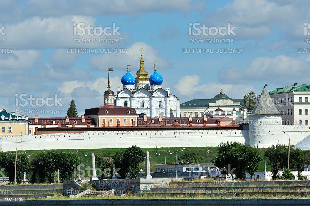 Annunciation Cathedral. Kazan Kremlin. Kazan, Tatarstan, Russia. stock photo