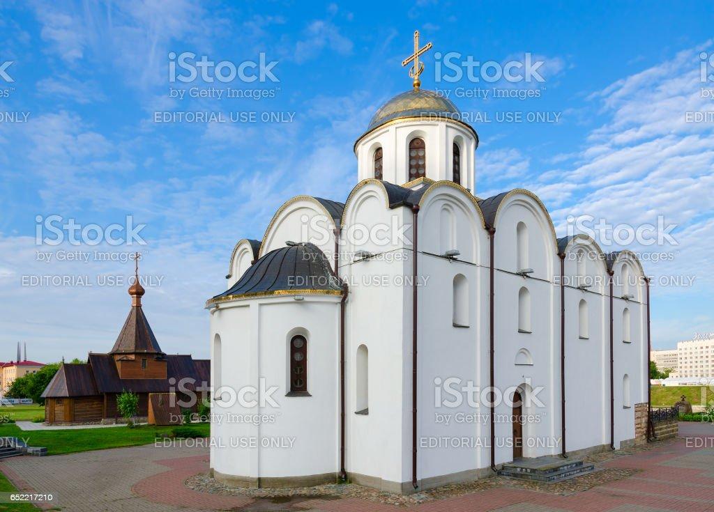 Annunciation Church and Church of Holy Prince Alexander Nevsky, Vitebsk stock photo