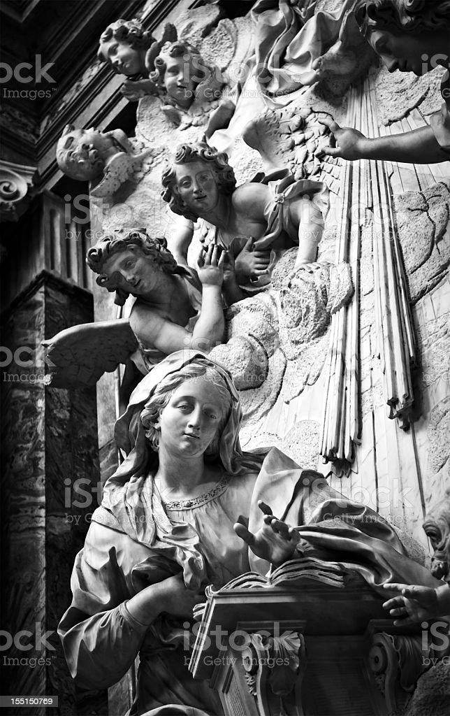 Annunciation, Superga Basilica in Turin, Italy stock photo