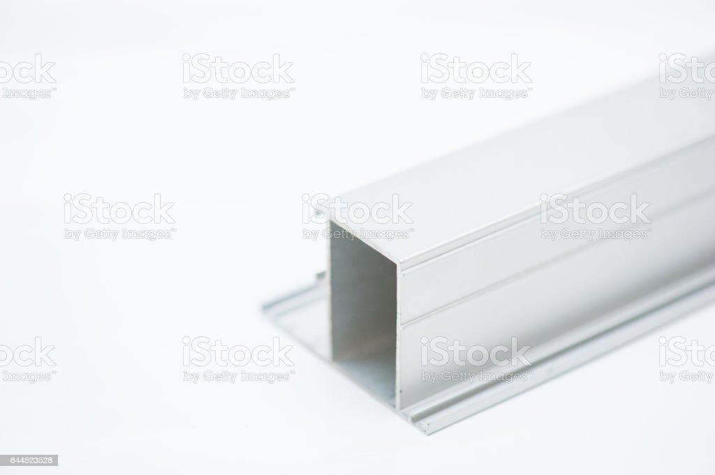 anodized aluminum profile stock photo