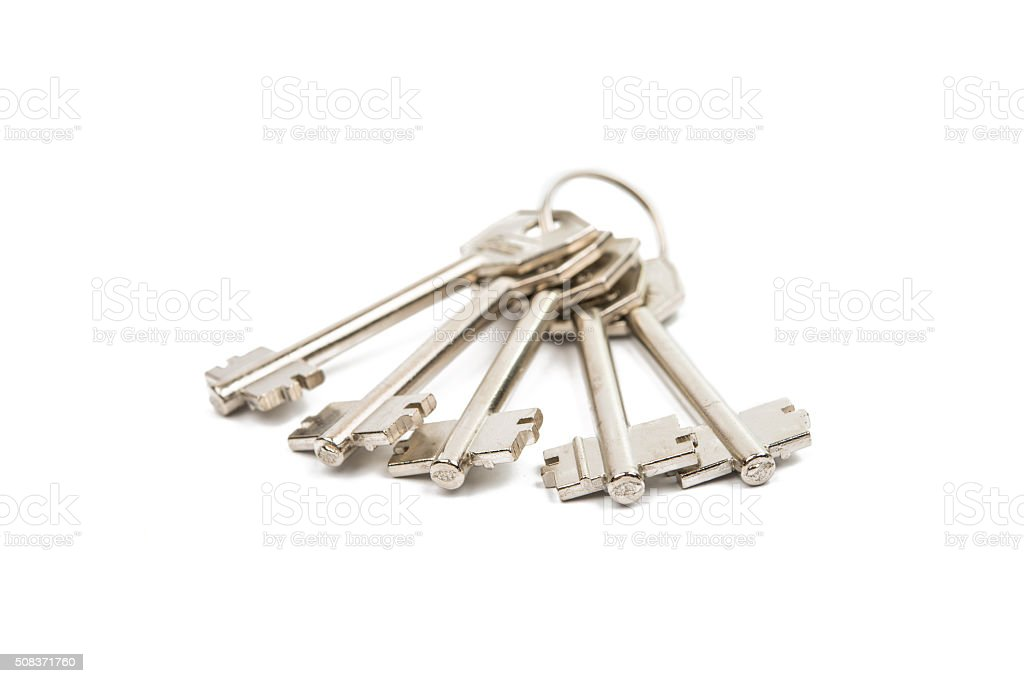 anodized metal keys stock photo
