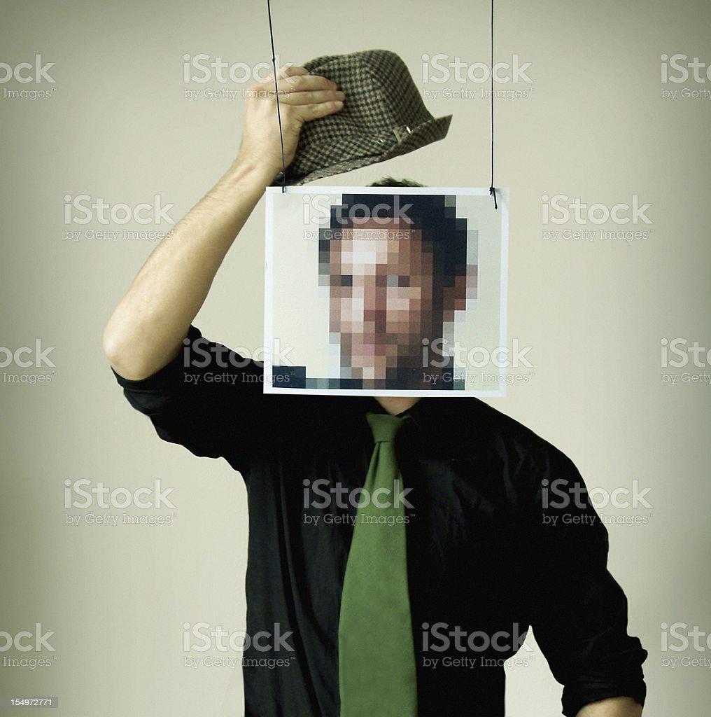 Anonymity @ Internet royalty-free stock photo