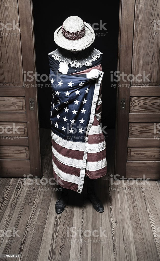 Anonymous American Woman stock photo