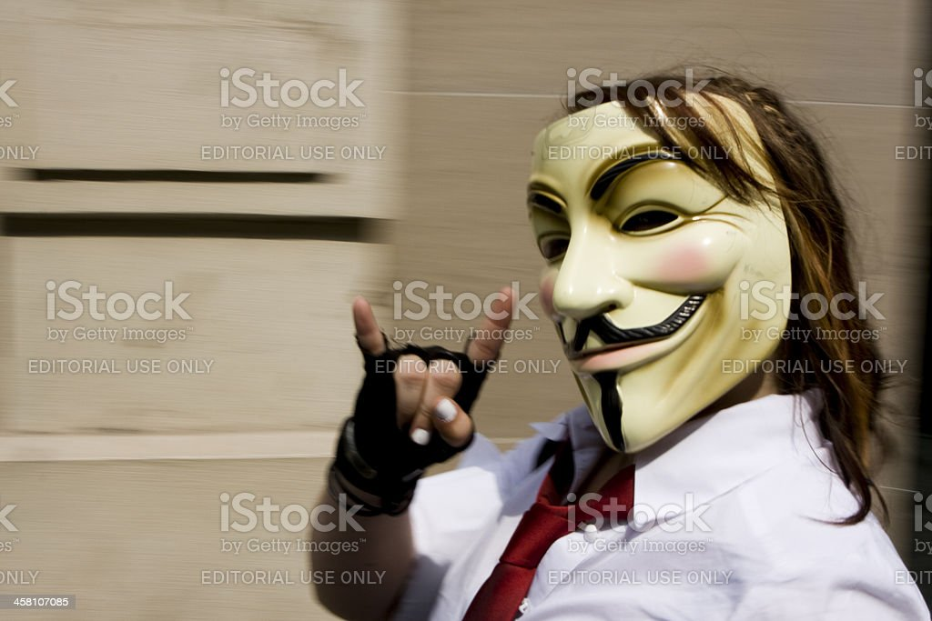 Anonymous at 2008 royalty-free stock photo