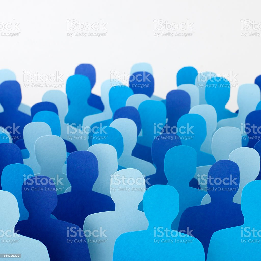 Anonymous blue men vector art illustration