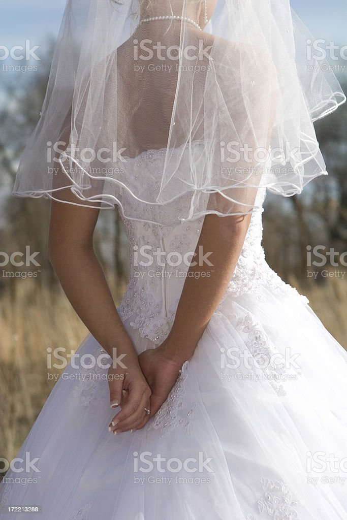 Anonymous Bride royalty-free stock photo