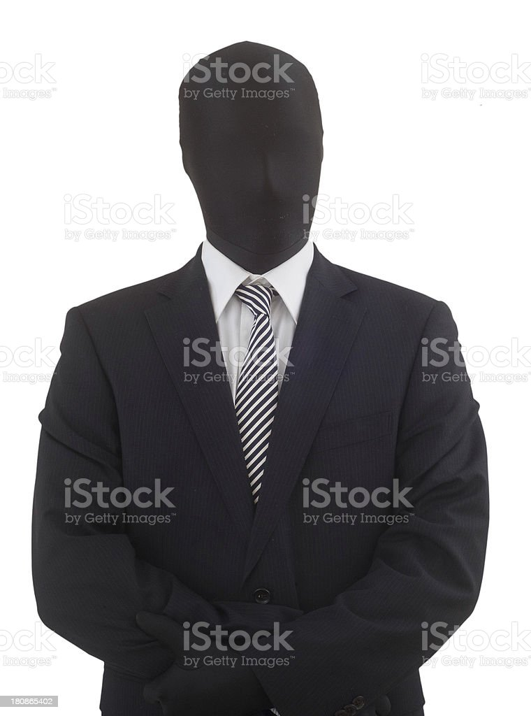 anonymous business man - anonymer Businessmann royalty-free stock photo