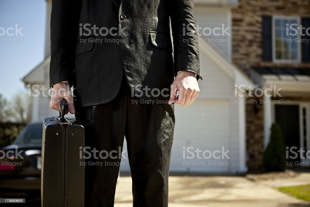 anonymous businessman left out to dry royalty-free stock photo
