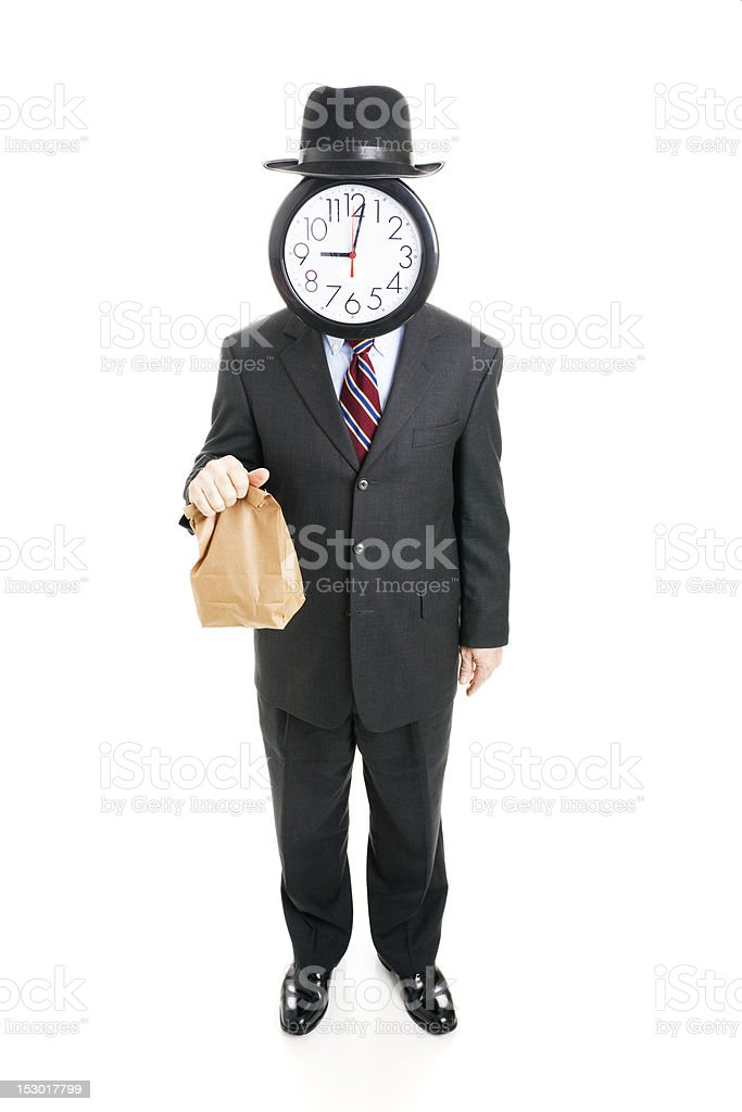 Anonymous Businessman on a Budget royalty-free stock photo